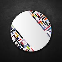 Abstract Double Rotated Mosaic Mirror