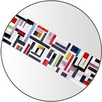 Abstract Single Rotated Mosaic Mirror by Piaggi