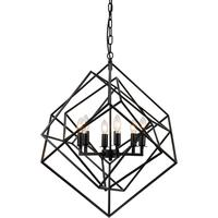 Cubic Geometric Pendant Lamp Matt Black