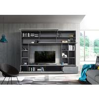 Novara TV and Wall Storage System Oxide Anthracite and Grey Finish by Andrew Piggott Contemporary Furniture