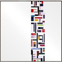 Abstract Square Single Mosaic Mirror