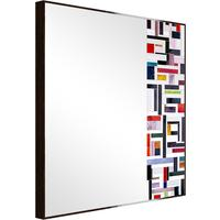 Abstract Square Side Mosaic Mirror