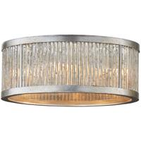 Sophie Art Deco Burnished Silver Leaf Ceiling Light