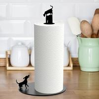 Cat n' Dog Kitchen Roll Holder by Red Candy