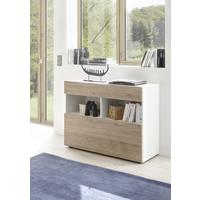 Salerno Sideboard - White and Cadiz Oak Finish