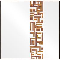 Square Single Beige Mosaic Mirror