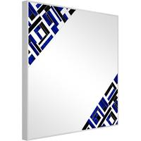 Abstract Square Double Blue Mosaic Mirror