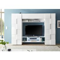 Treviso Wall Media Unit Including LED Spotlight - White Gloss Finish by Andrew Piggott Contemporary Furniture