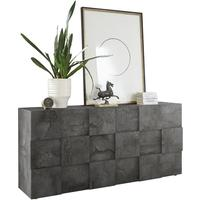 Treviso Sideboard - Three Doors Anthracite Finish by Andrew Piggott Contemporary Furniture