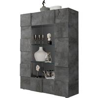 Treviso Two Door Display Cabinet - Anthracite with LED Spot Light by Andrew Piggott Contemporary Furniture