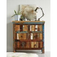 Coastal Reclaimed Wood 4 Drawer Chest Rustic Design