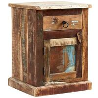 Coastal Reclaimed Bedside Table Rustic Wood