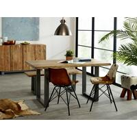 Baltic Live Edge Dining Table 150cm Acacia Wood and Metal Frame