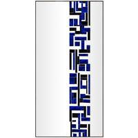 Abstract Rectangle Blue Single Mosaic Mirror