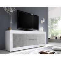 Urbino Low Sideboard/TV Stand - Gloss White and Grey Finish by Andrew Piggott Contemporary Furniture