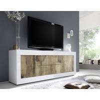 Urbino Low Sideboard/TV Stand - Gloss White and Natural Finish by Andrew Piggott Contemporary Furniture