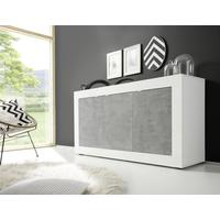 Urbino Three Door Sideboard - Gloss White and Grey Finish
