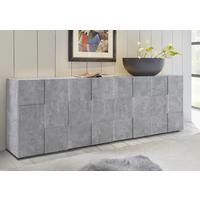 Treviso Four Door Sideboard - Grey Concrete Finish by Andrew Piggott Contemporary Furniture