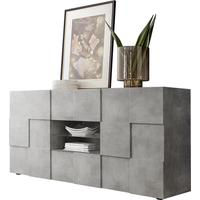 Treviso Two Door/Two Drawer Sideboard - Grey Concrete Finish