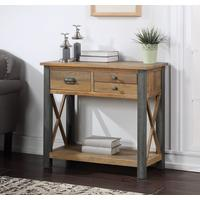 Urban Elegance - Reclaimed Small Console Table by Baumhaus Furniture