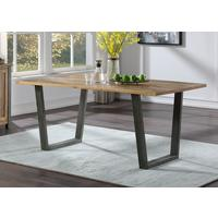 Urban Elegance Reclaimed 180cm Dining Table Reclaimed Wood and Aluminium