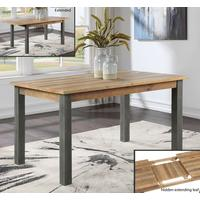 Urban Elegance Extending Dining Table 150-200cm Reclaimed Wood and Aluminium