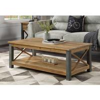 Urban Elegance Coffee Table Reclaimed Wood and Aluminium
