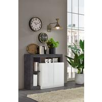 Florence Sideboard  Two Doors - White Gloss and  Anthracite  Finish by Andrew Piggott Contemporary Furniture
