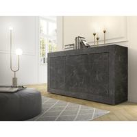 Urbino Collection Three Door Sideboard- Matt Black Marble Finish  by Andrew Piggott Contemporary Furniture