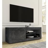 Urbino Collection Small TV Unit with optional LED Spotlight - Matt Black Marble Finish  by Andrew Piggott Contemporary Furniture
